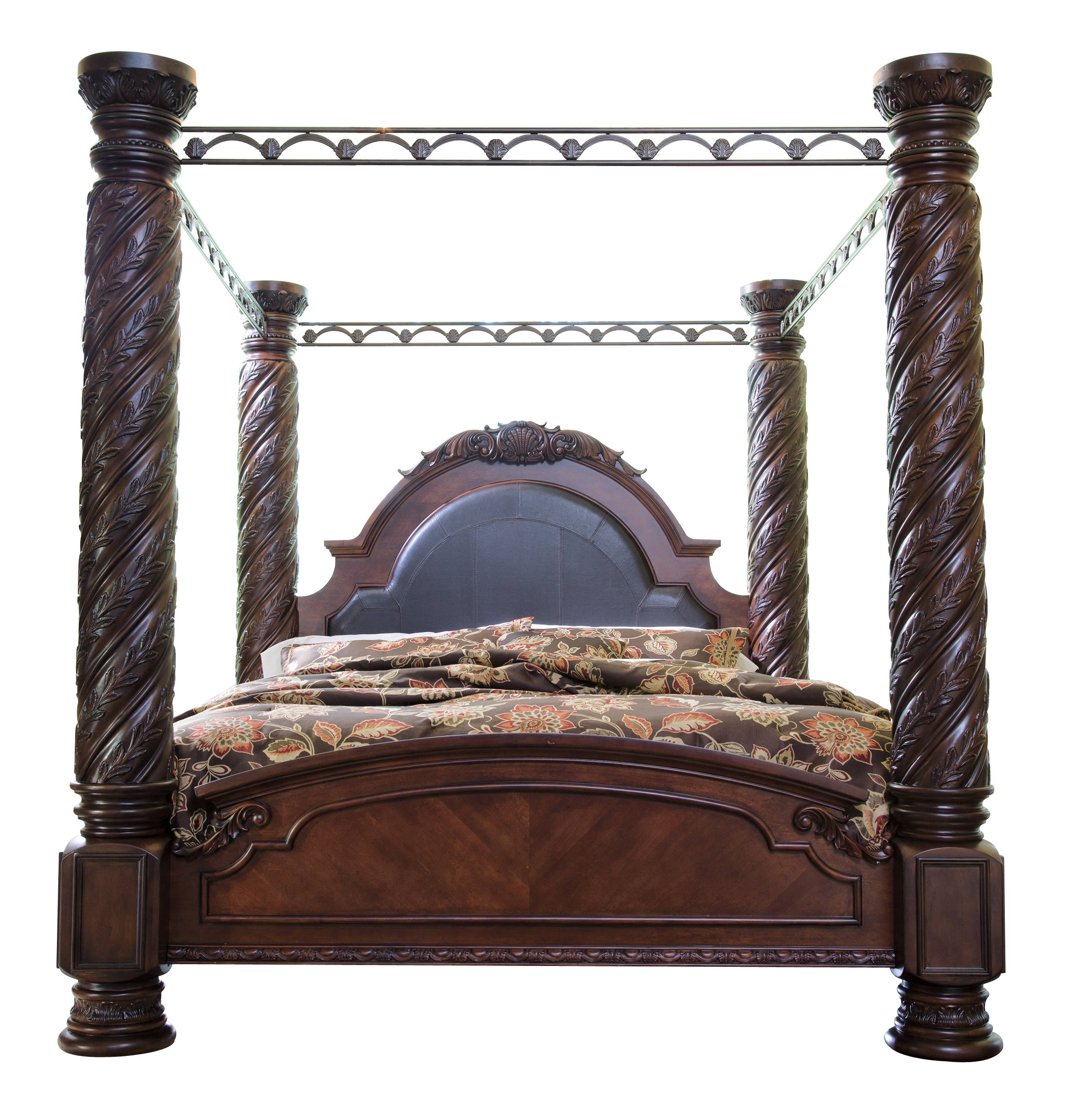 Ashley Furniture North Shore Dark Brown King Bed Click To Enlarge