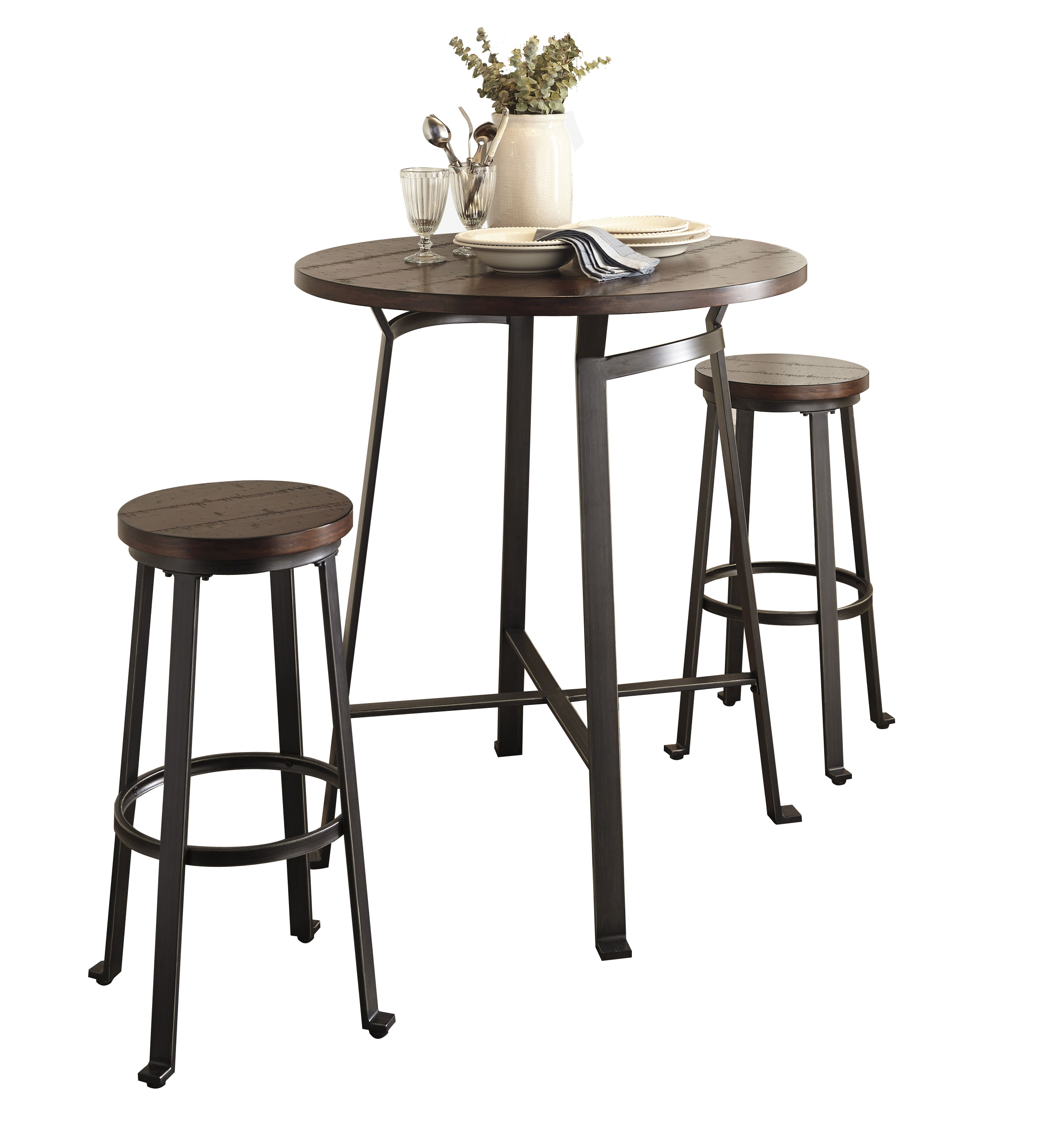 Ashley Furniture Challiman 3pc Bar Height Set The Classy