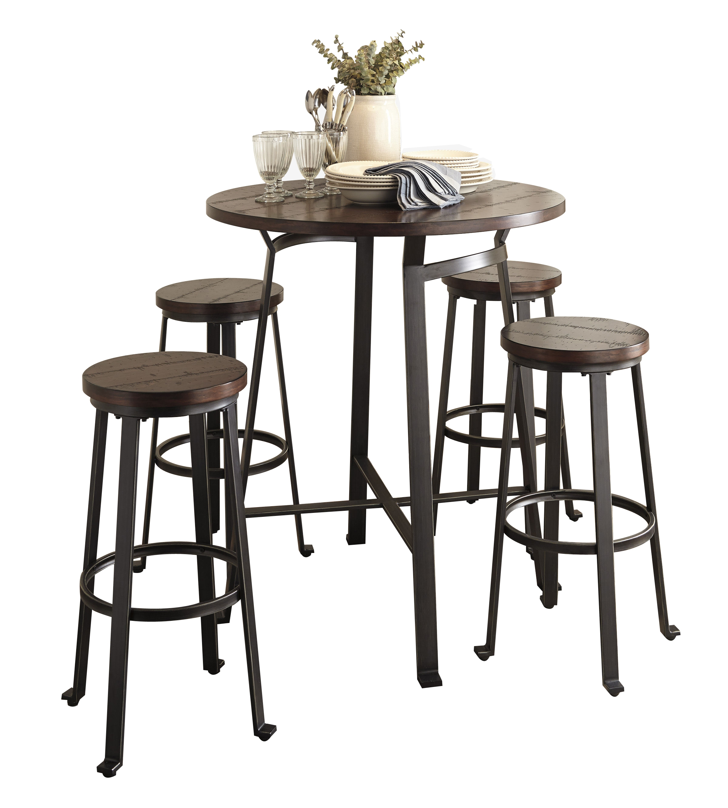 Ashley Furniture Challiman 5pc Bar Height Set The Classy