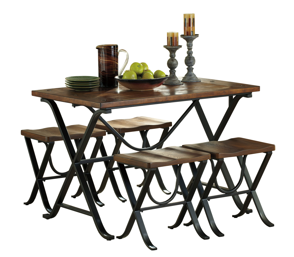 Ashley Furniture Discontinued: Ashley Furniture Freimore 5pc Rectangle Dining Set