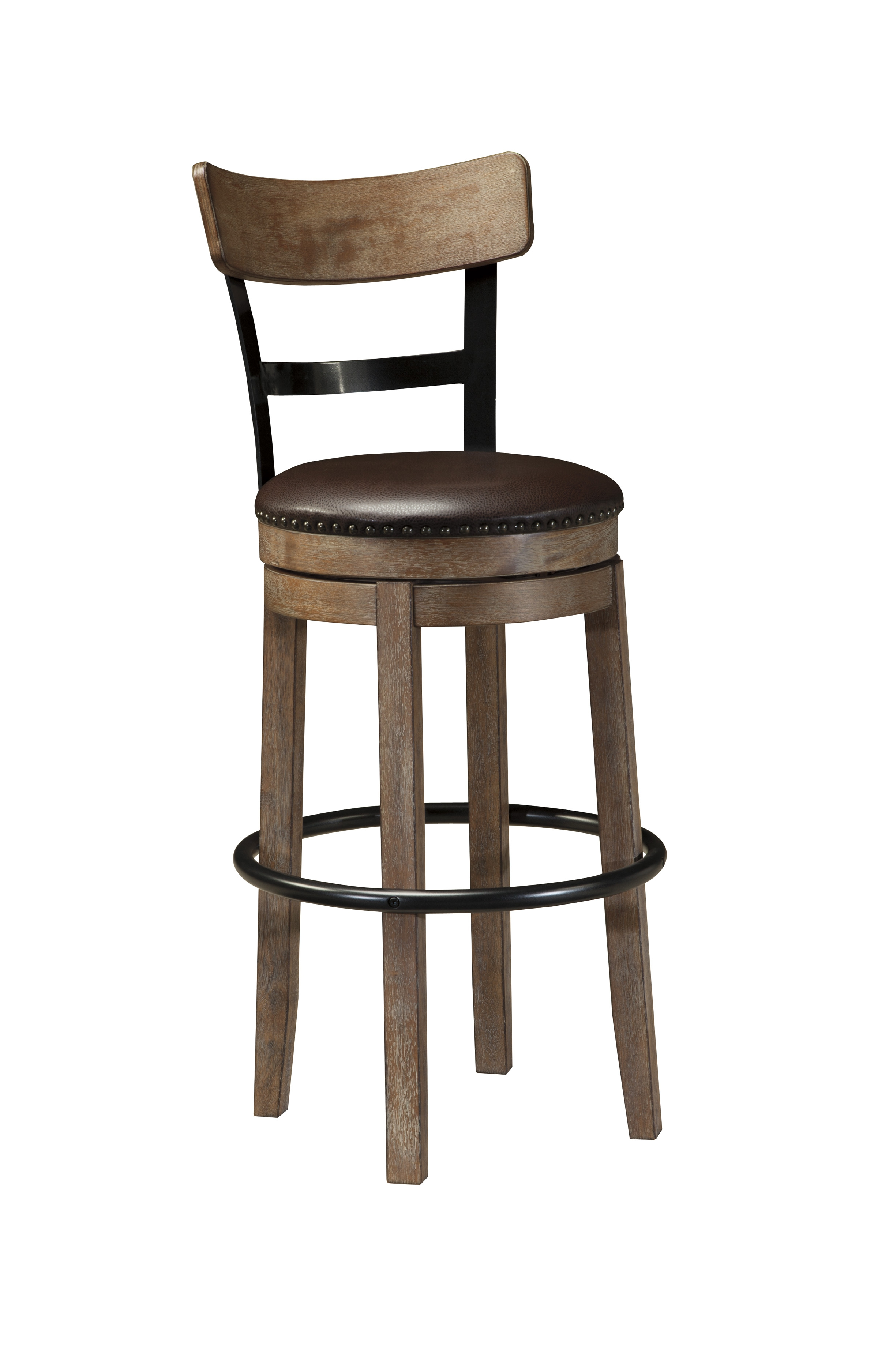 Ashley Furniture Pinnadel Tall Upholstered Swivel Barstool Click To Enlarge  ...
