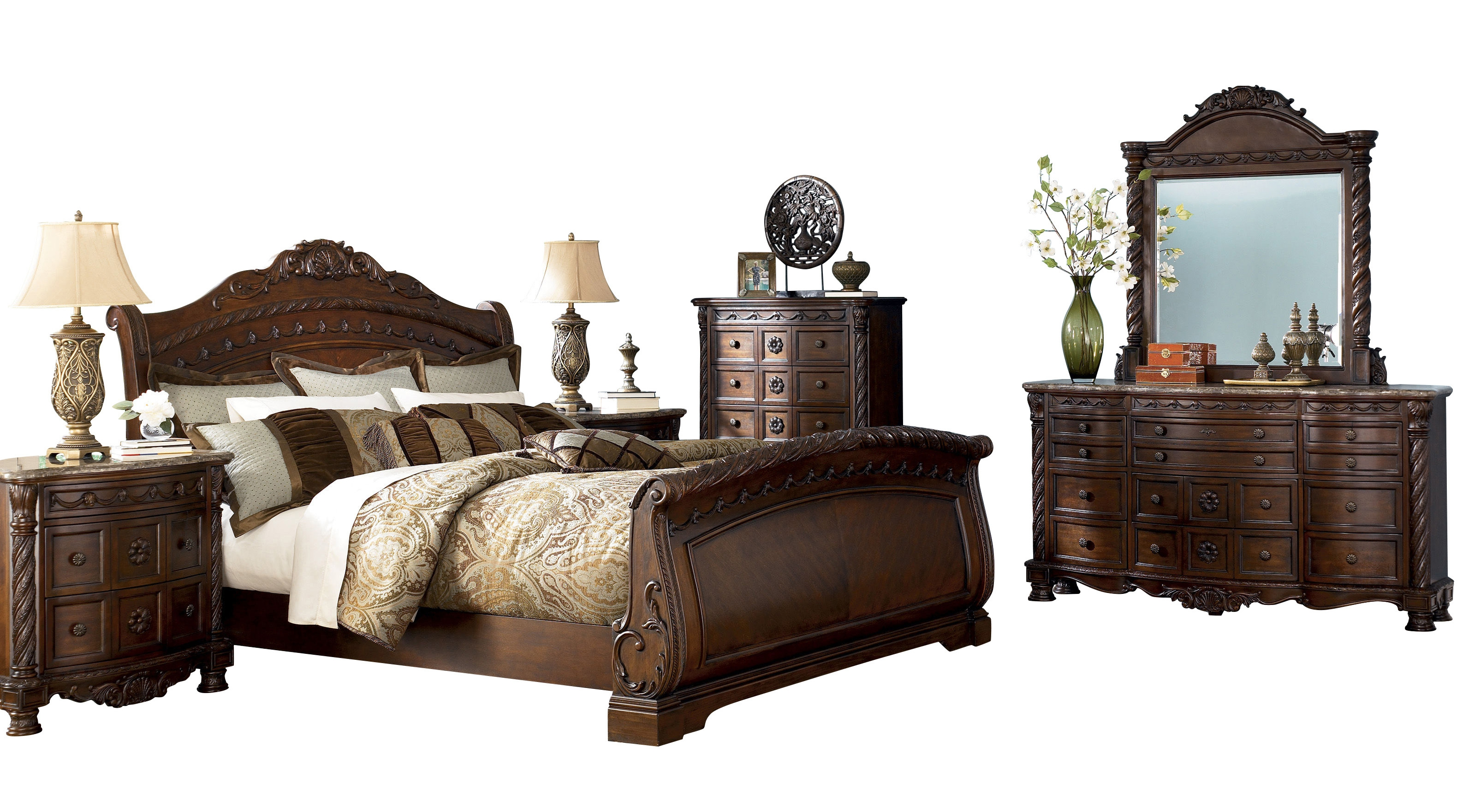 North shore bedroom set bedrooms the classy home - North shore sleigh bedroom set sale ...