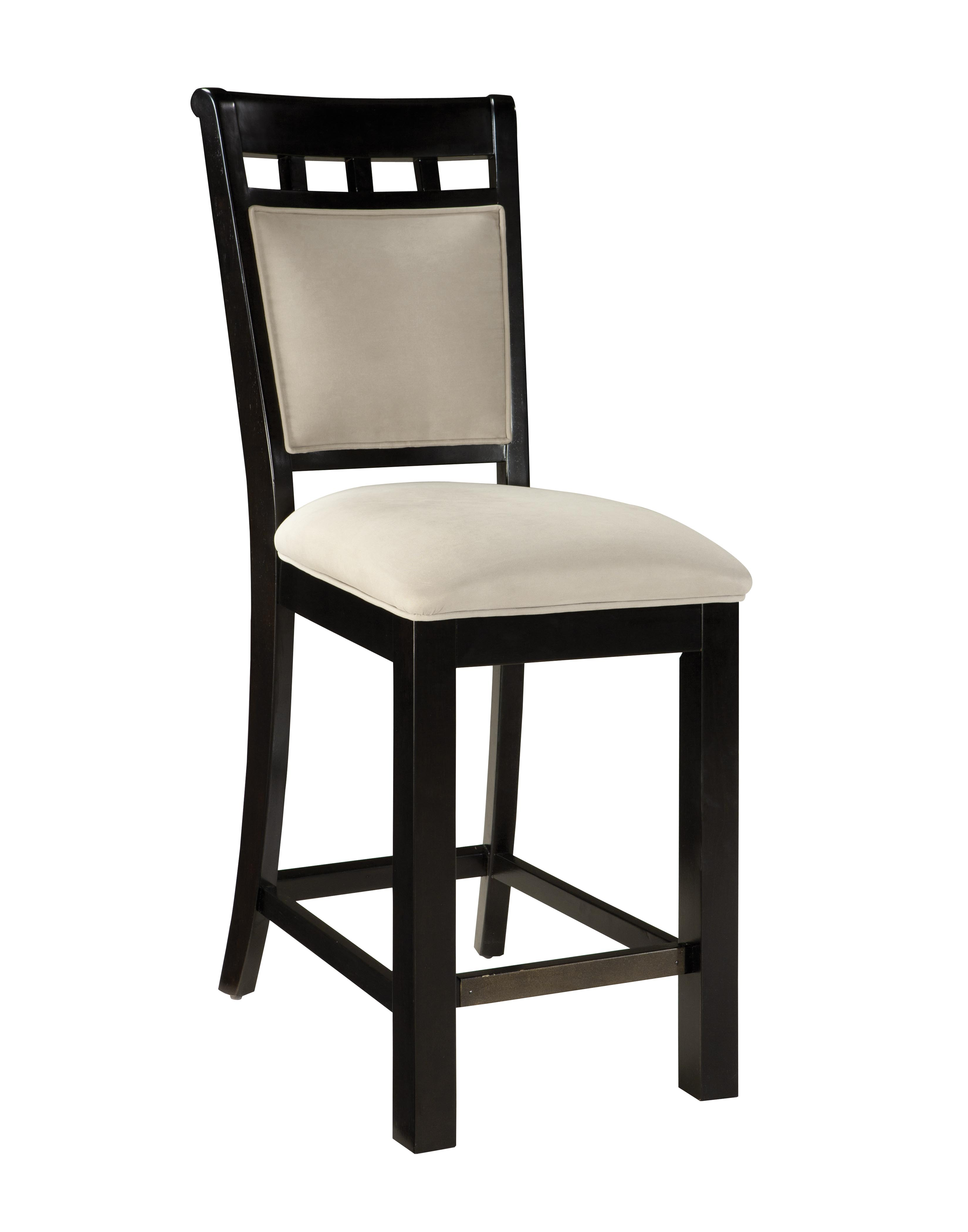 1fedb792817a 2 Gateway White Brown Chicory Wood Fabric Upholstery Barstools Click To  Enlarge ...