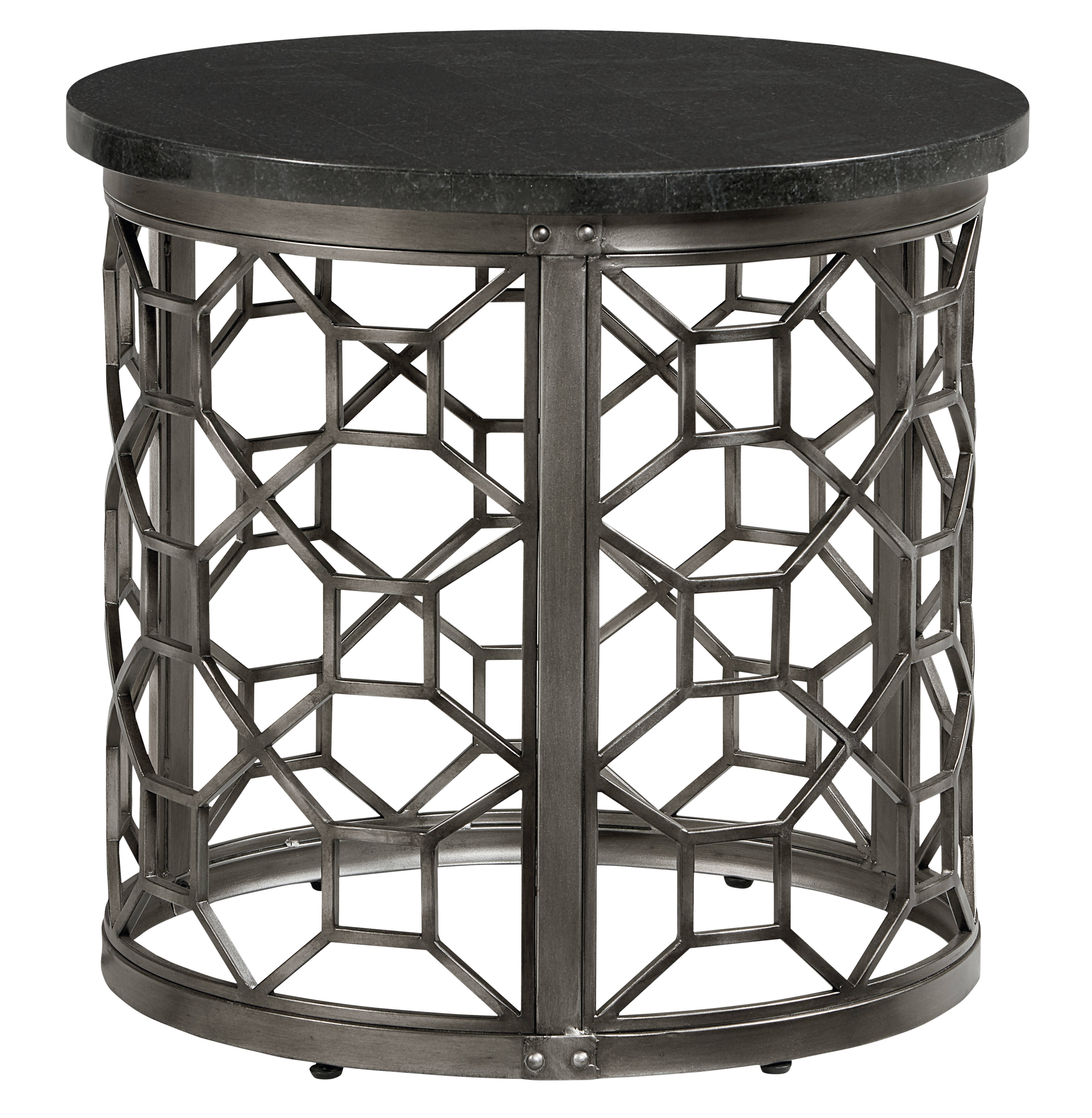 Standard Furniture Equinox Pewter Round End Table Top
