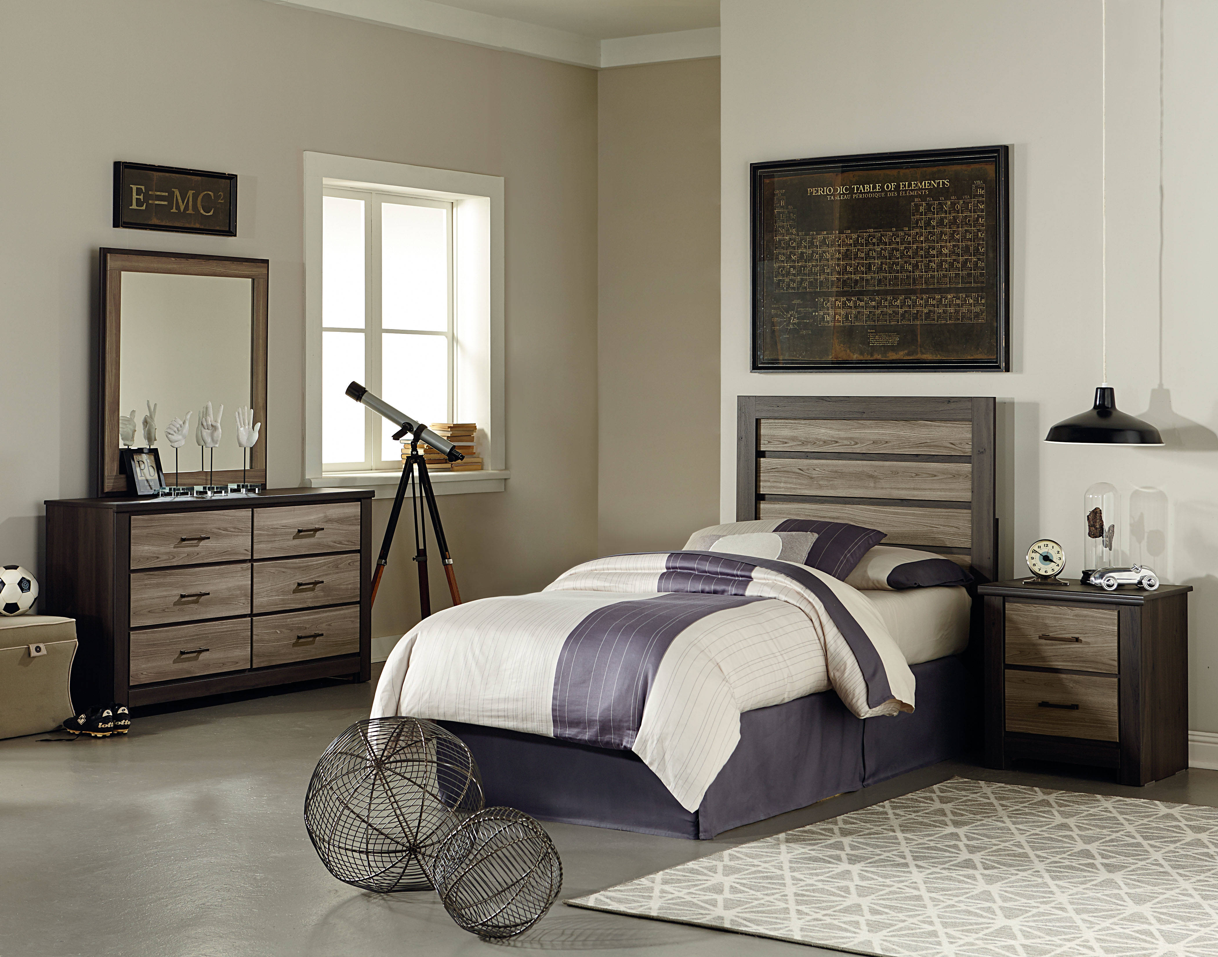 standard furniture oakland 2pc bedroom set with full panel bed the classy home. Black Bedroom Furniture Sets. Home Design Ideas
