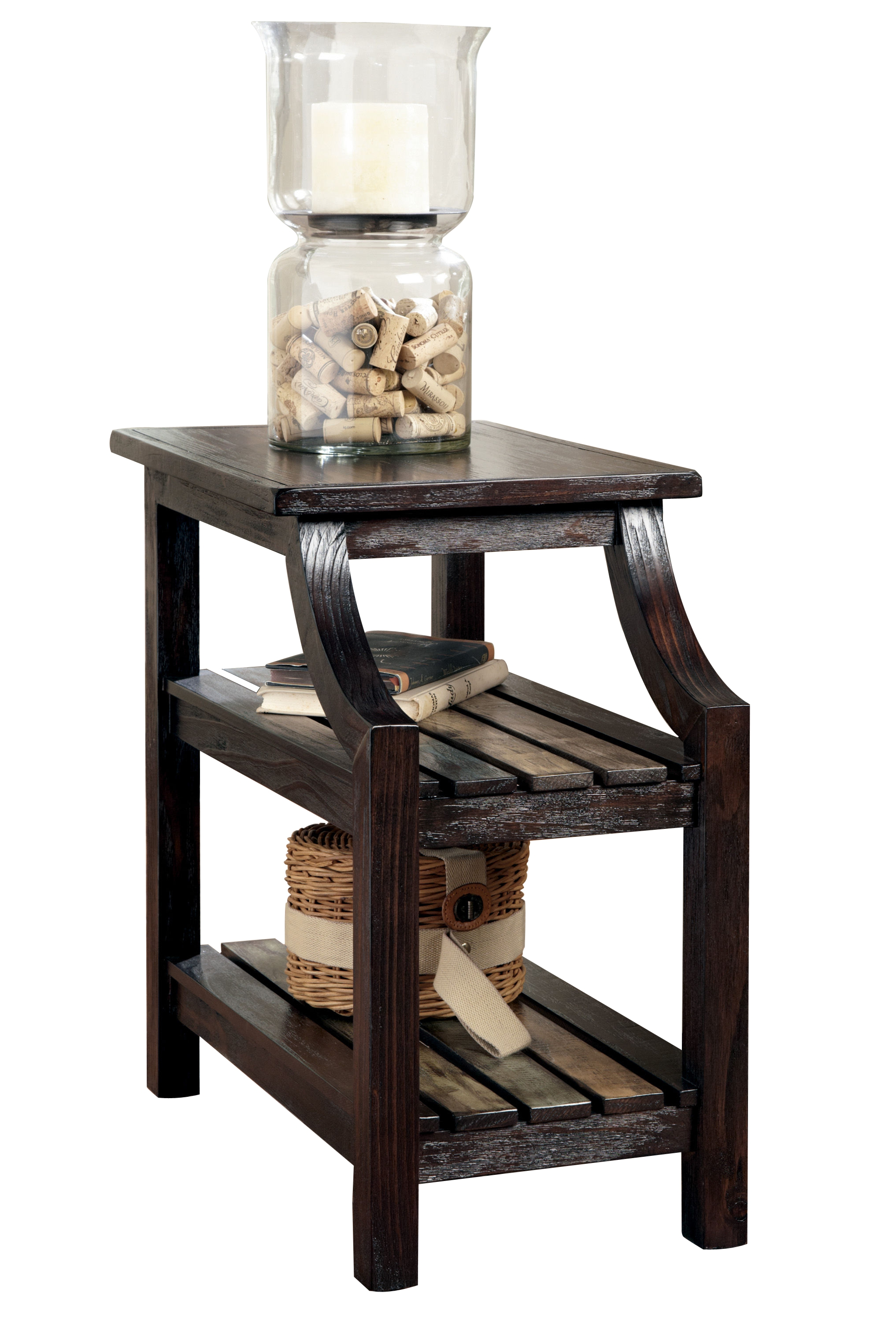 Ashley Furniture Mestler Brown Chairside Table The
