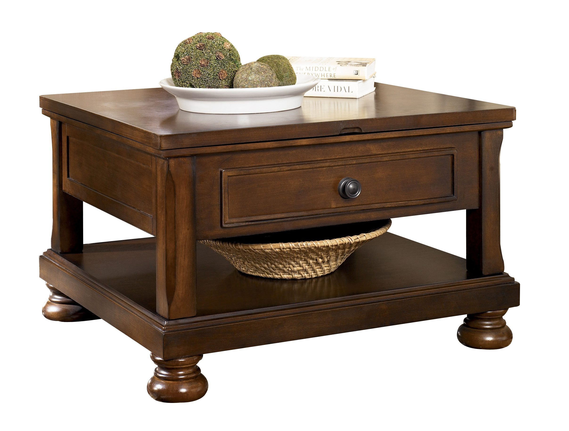 Ashley Furniture Porter Brown Lift Top Cocktail Table The Classy