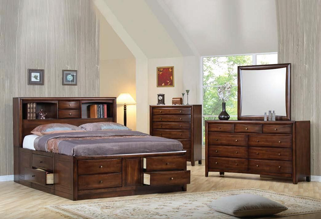 Pleasing Coaster Furniture Hillary Warm Brown 2Pc Bedroom Set With King Storage Bed Download Free Architecture Designs Photstoregrimeyleaguecom