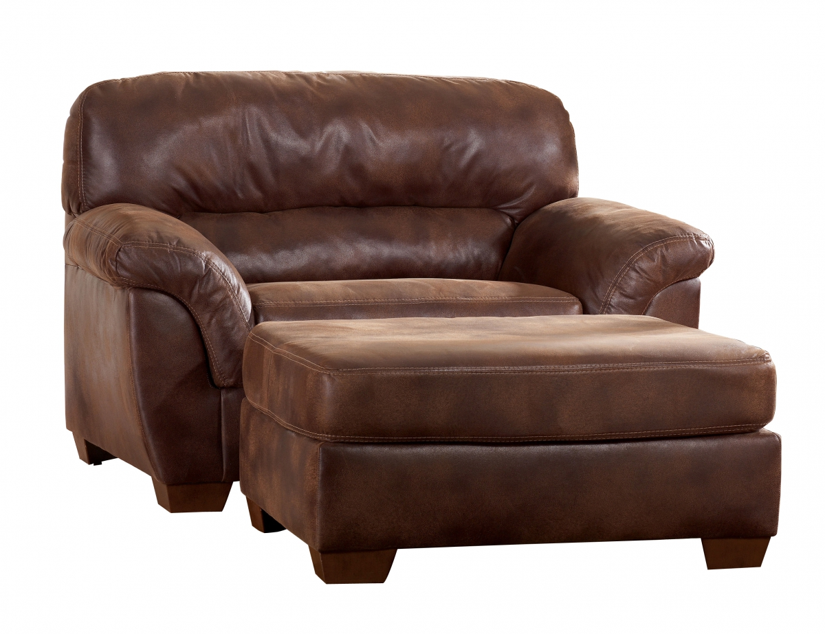 Frontier Casual Canyon Faux Leather Wood Chair And A Half The Classy Home