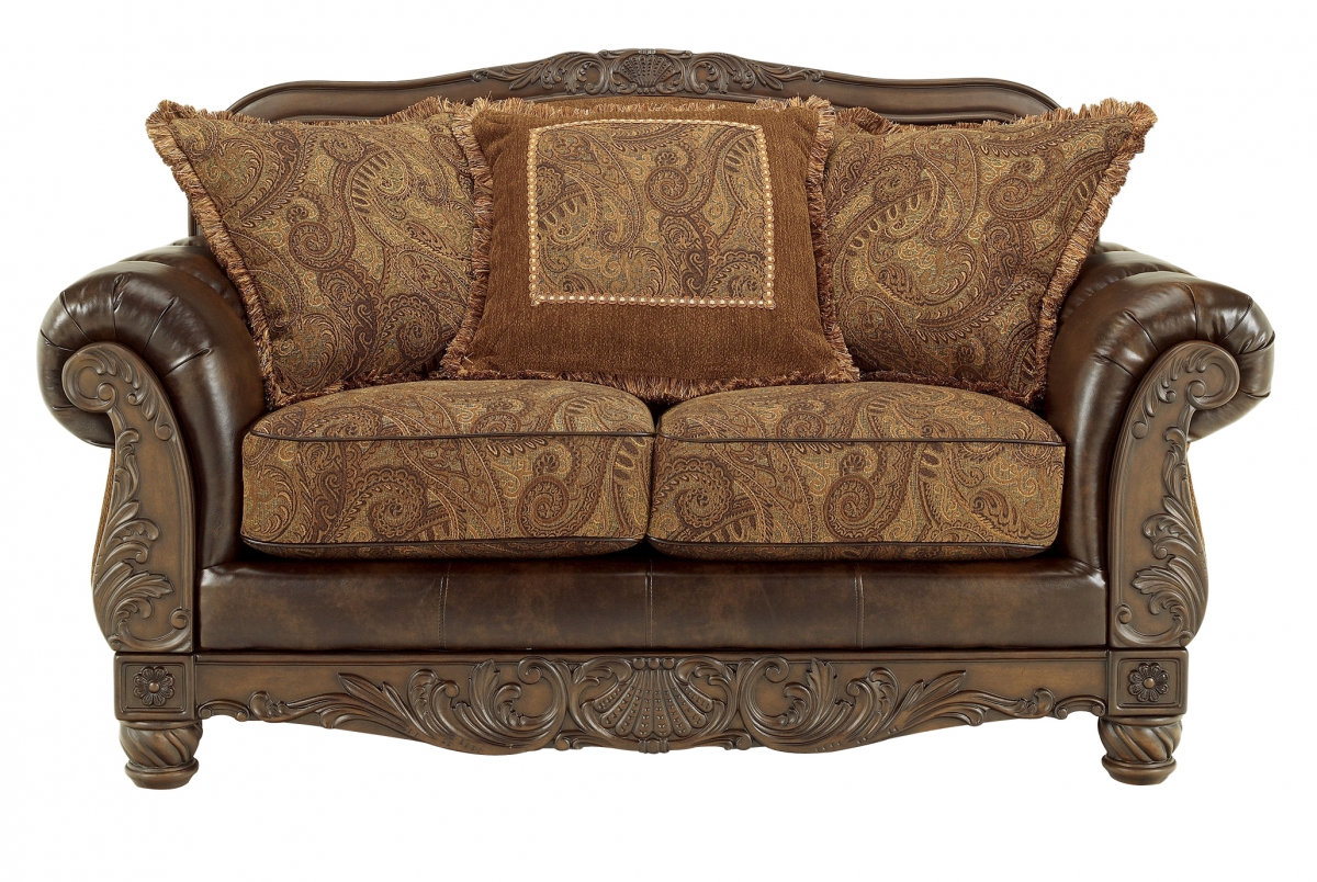 Furniture Fresco Durablend Antique Loveseat The Cly Home