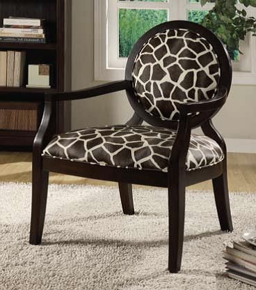 giraffe print accent chair | the classy home
