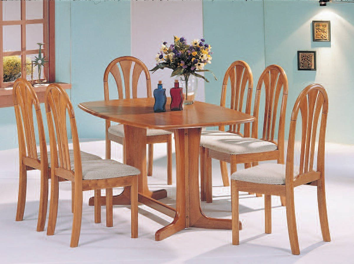 stockholm oak casual wood dining room set kitchen