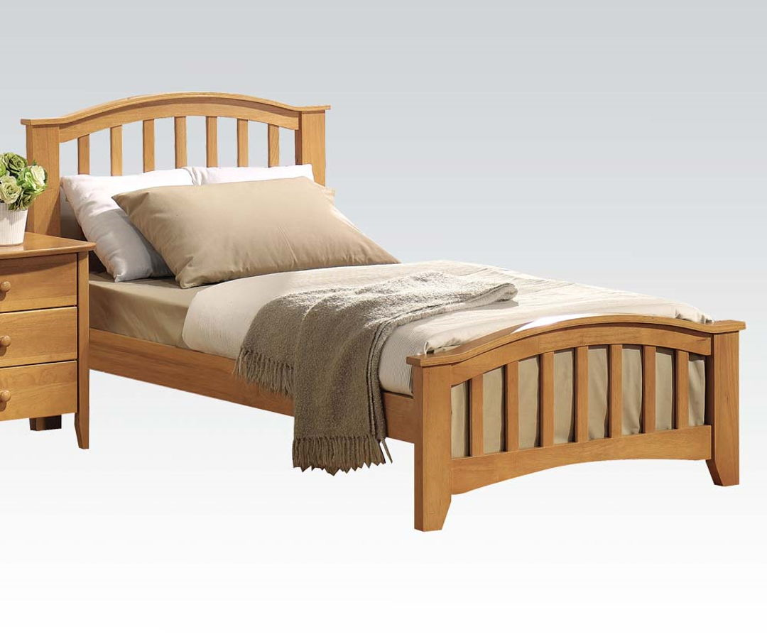 Acme Furniture San Marino Maple Full Panel Bed | The Classy Home