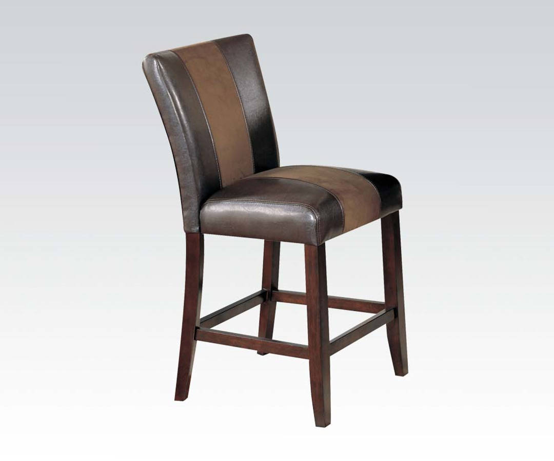 2 Acme Furniture Britney Espresso Counter Height Chairs | The Classy Home