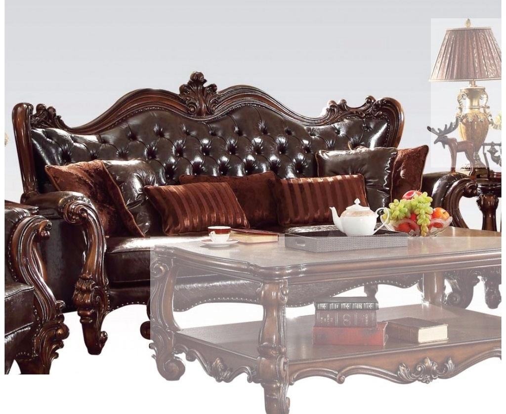 Miraculous Acme Furniture Versailles Dark Brown Sofa With Seven Pillows Inzonedesignstudio Interior Chair Design Inzonedesignstudiocom