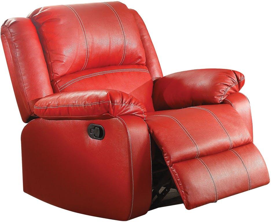Acme Furniture Zuriel Red Motion Rocker Recliner The