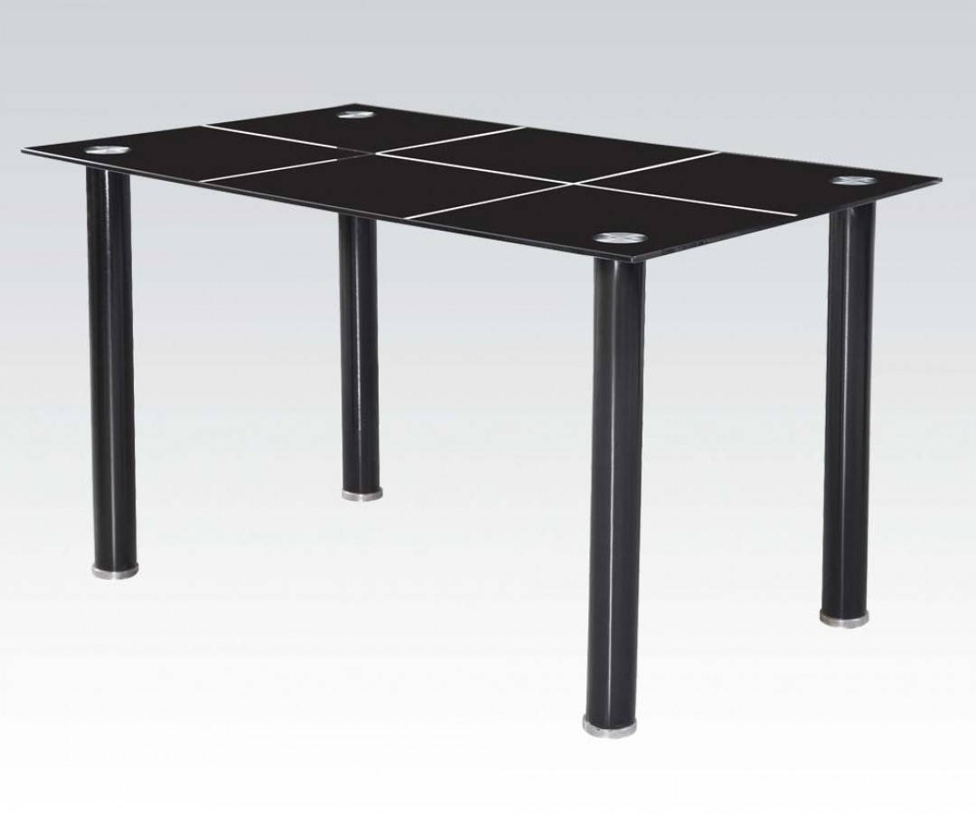 acme furniture riggan black rectangle dining table the classy home. Black Bedroom Furniture Sets. Home Design Ideas