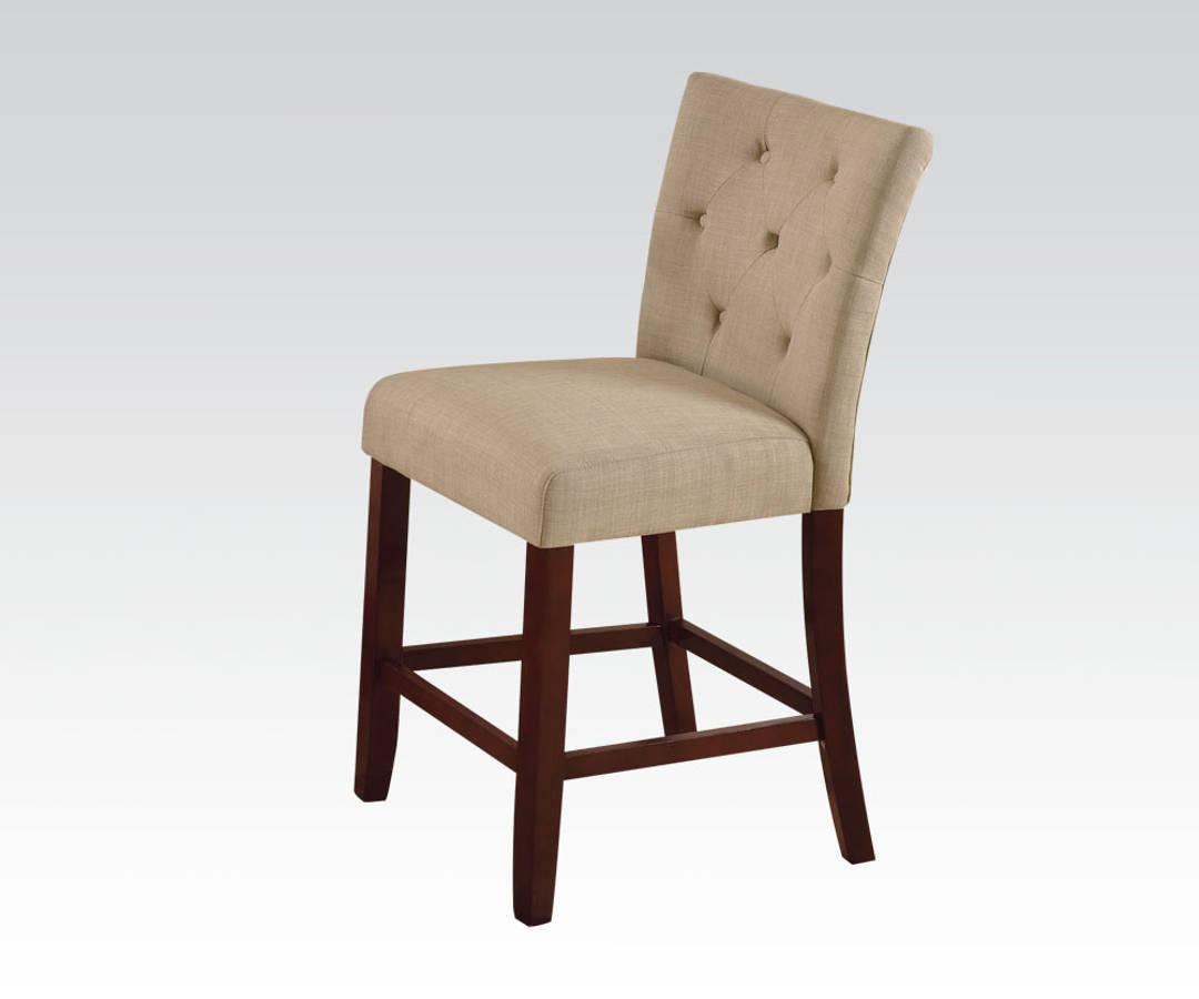 2 Acme Furniture Baldwin Walnut Counter Height Chairs