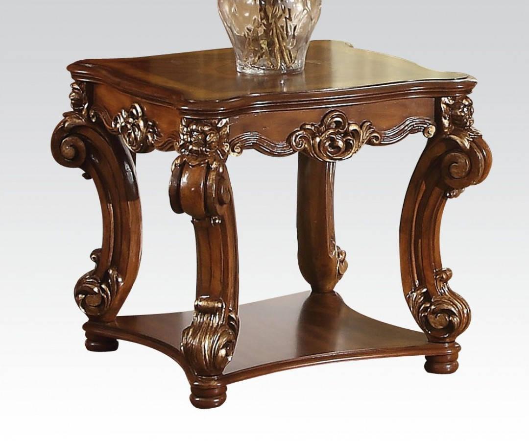 Vendome Cherry Wood Square End Table W/Queen Anne Legs ...
