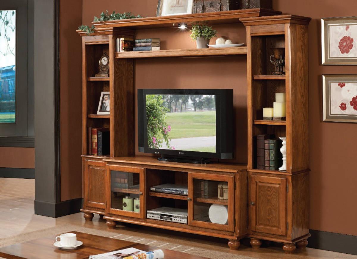 Dita Light Oak Wood Entertainment Center W Tv Stand The Classy Home