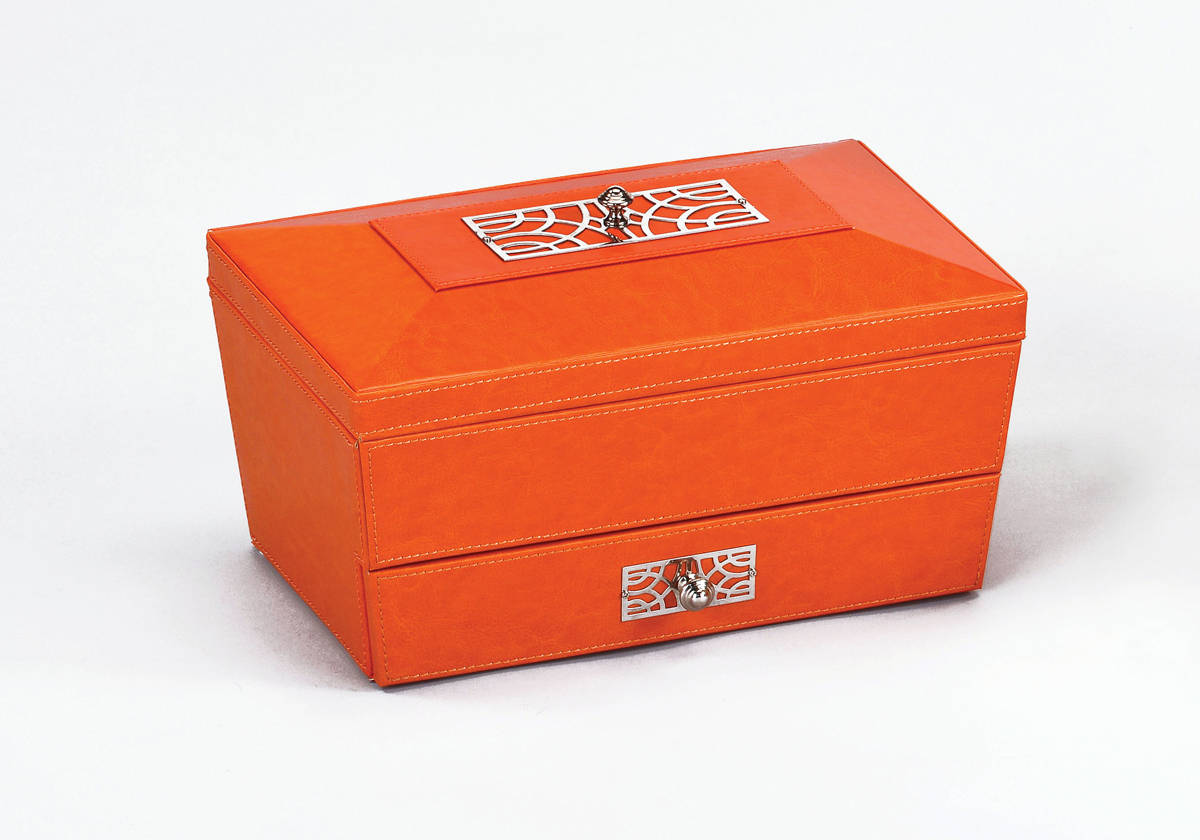 4 acme furniture iantha orange jewelry boxes the classy home for Chaise jewelry box
