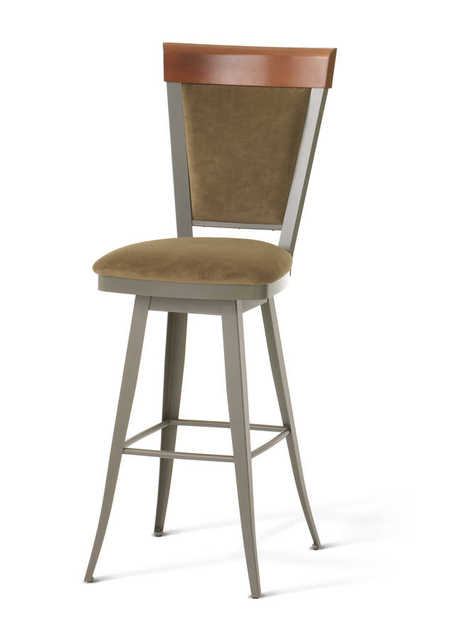 Eleanor Swivel 26 Inch Stool Solid Wood Accent The