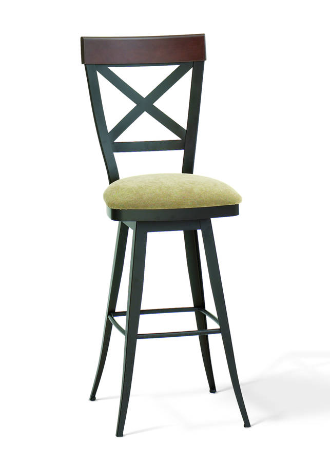 Kyle Swivel 26inch Stool Upholster Seat Amp Solid Distress