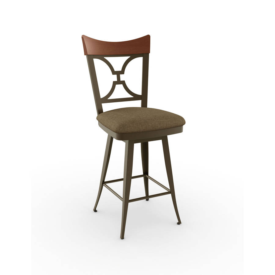 Brandy Swivel Stools Solid Wood Accent The Classy Home