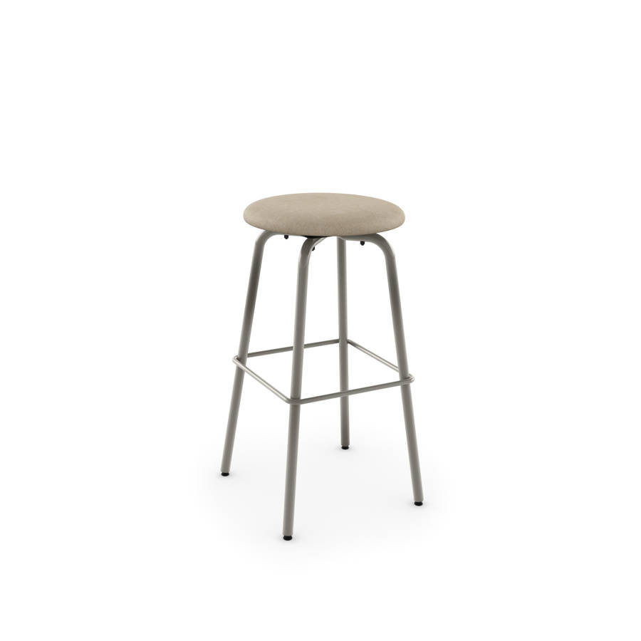 Button Swivel 30 Inch Stool Upholstered Seat The