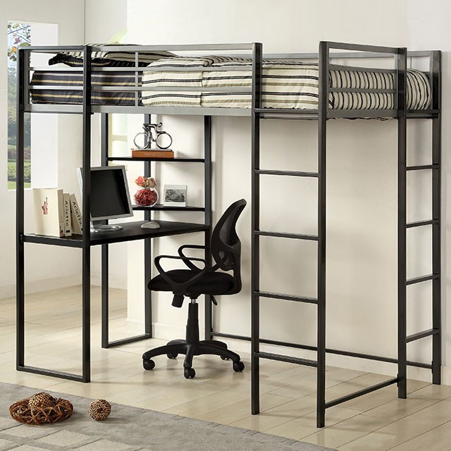 Furniture Of America Sherman Twin Bed With Workstation