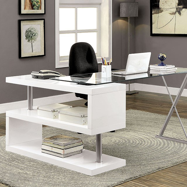 Furniture Of America Bronwen White Desk The Classy Home
