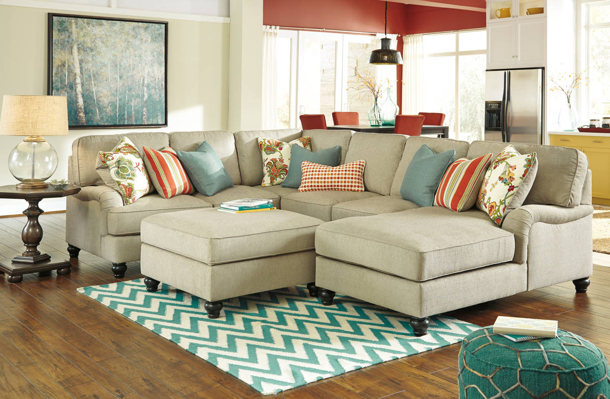 Remarkable Kerridon Putty Sectionals W Raf Chaise Storage Ottoman Squirreltailoven Fun Painted Chair Ideas Images Squirreltailovenorg