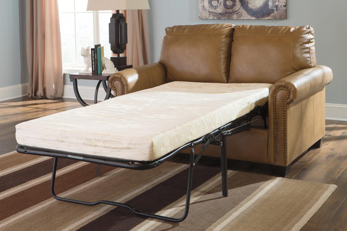 Ashley Furniture Lottie Durablend Almond Twin Sofa Sleeper The Classy Home