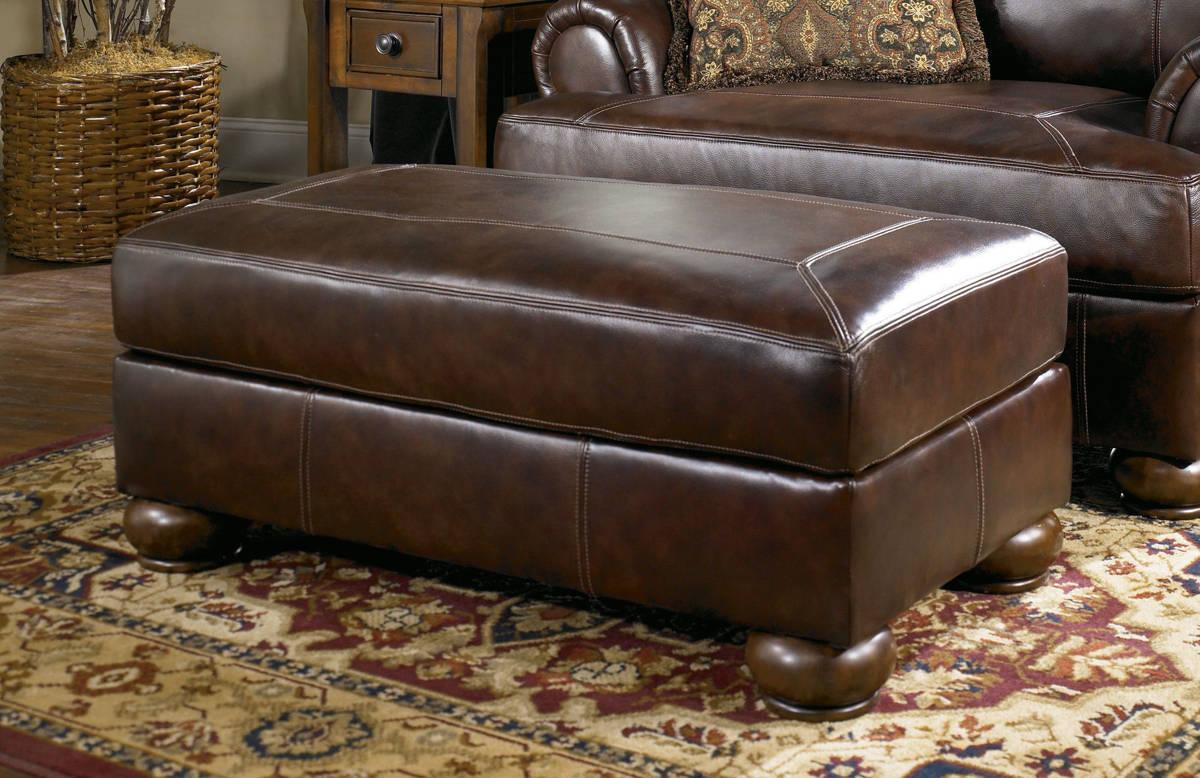 Ashley Furniture Axiom Walnut Ottoman The Classy Home