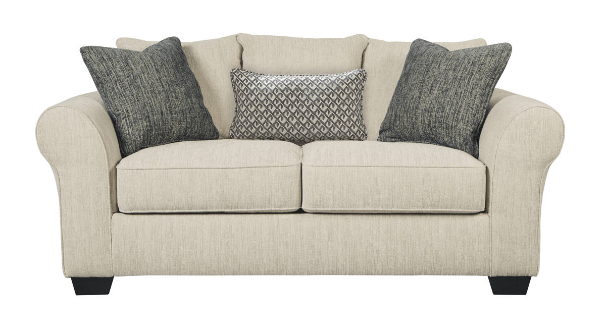 Silsbee Contemporary Sepia Fabric Solid Wood Loveseat 5540235