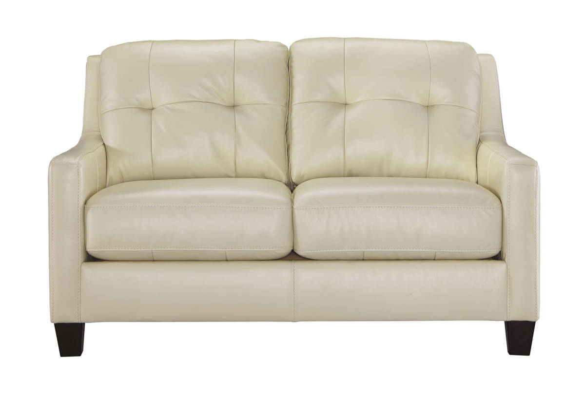 OKean Contemporary Galaxy Leather Solid Wood Loveseats 5910-LS-VAR