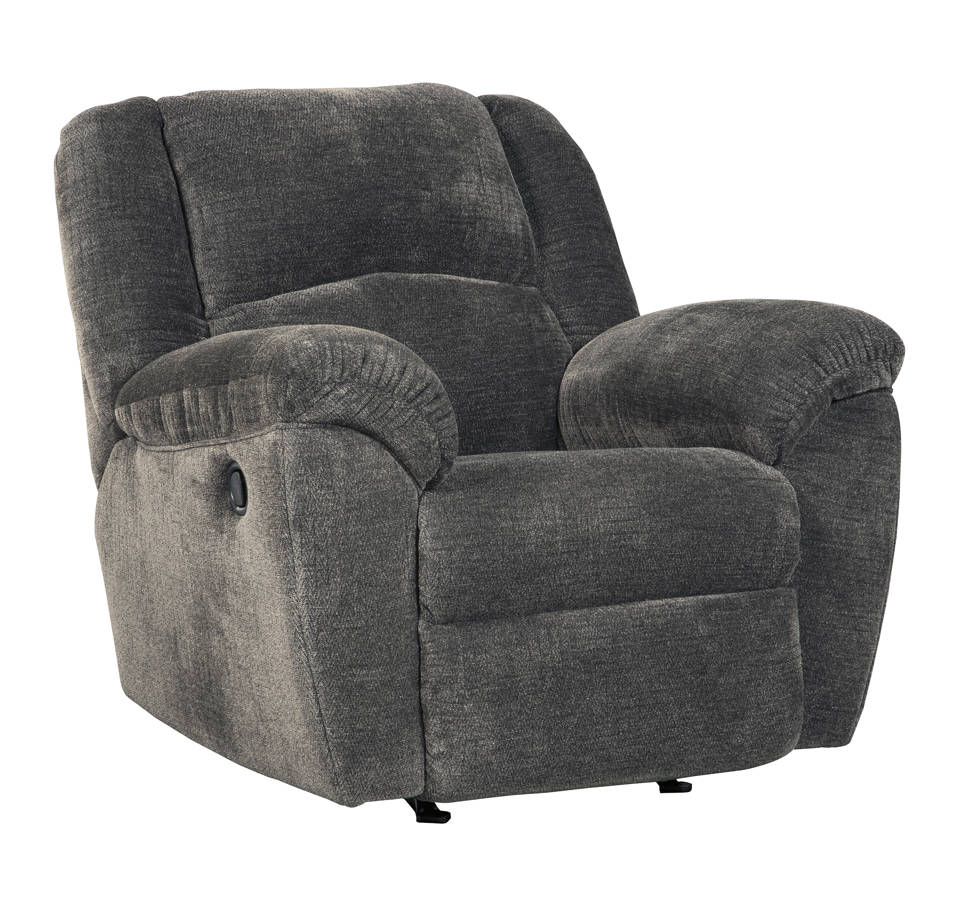 Timpson Contemporary Slate Fabric Rocker Recliner 6190125