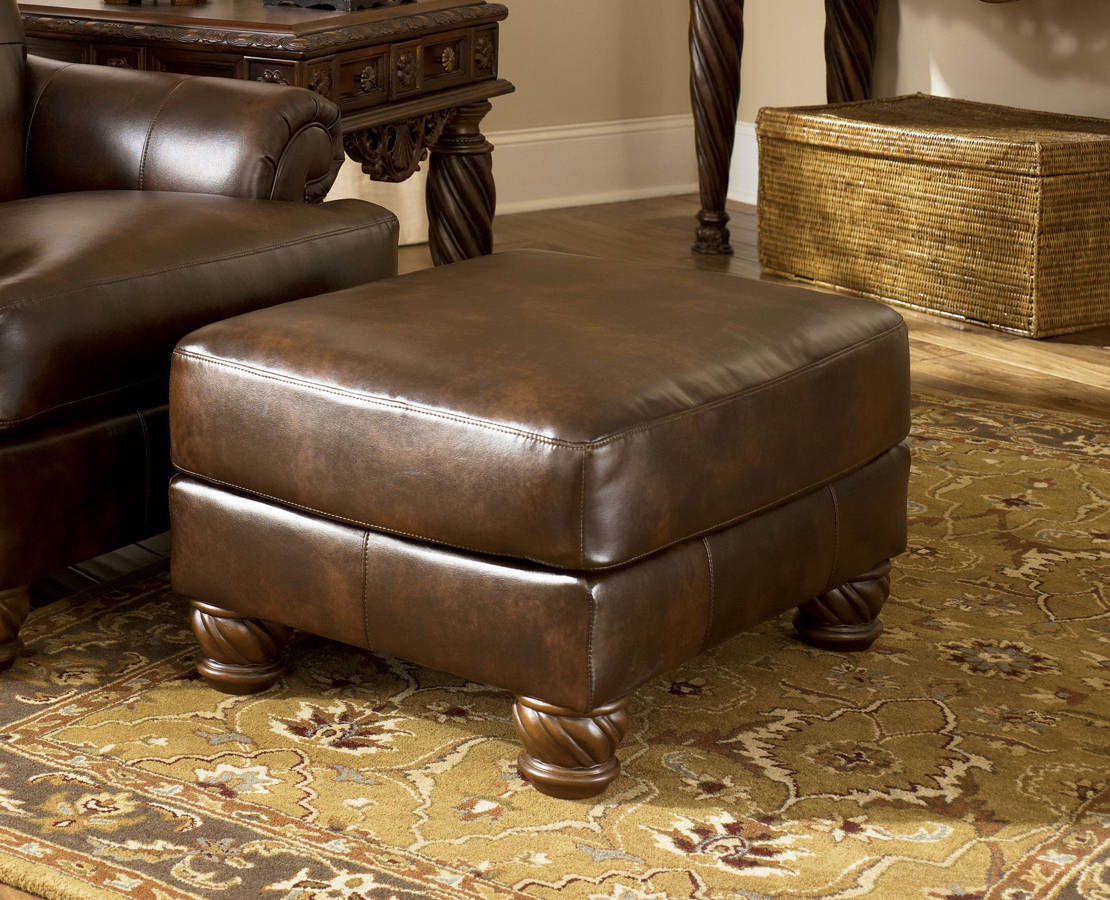 Miraculous Ashley Furniture Fresco Durablend Antique Accent Ottoman Home Remodeling Inspirations Basidirectenergyitoicom