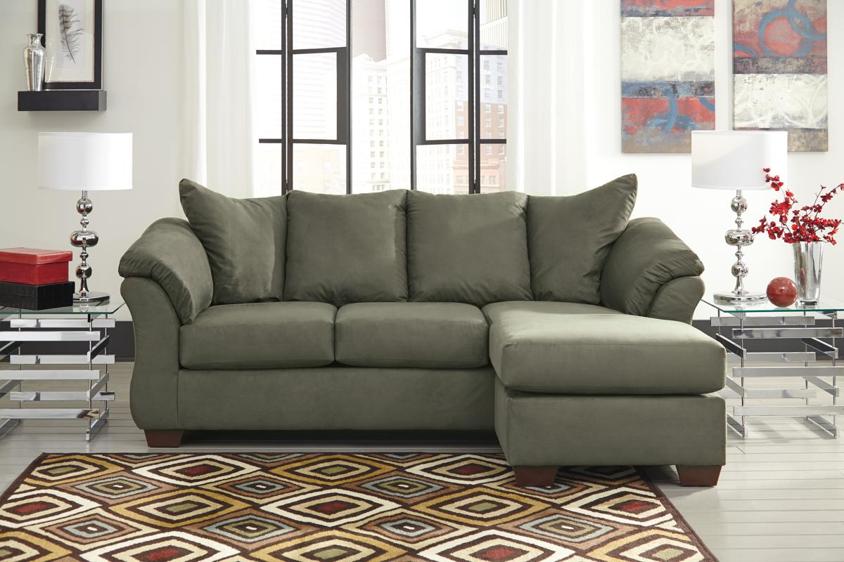 Ashley Furniture Darcy Sage Sofa Chaise The Classy Home