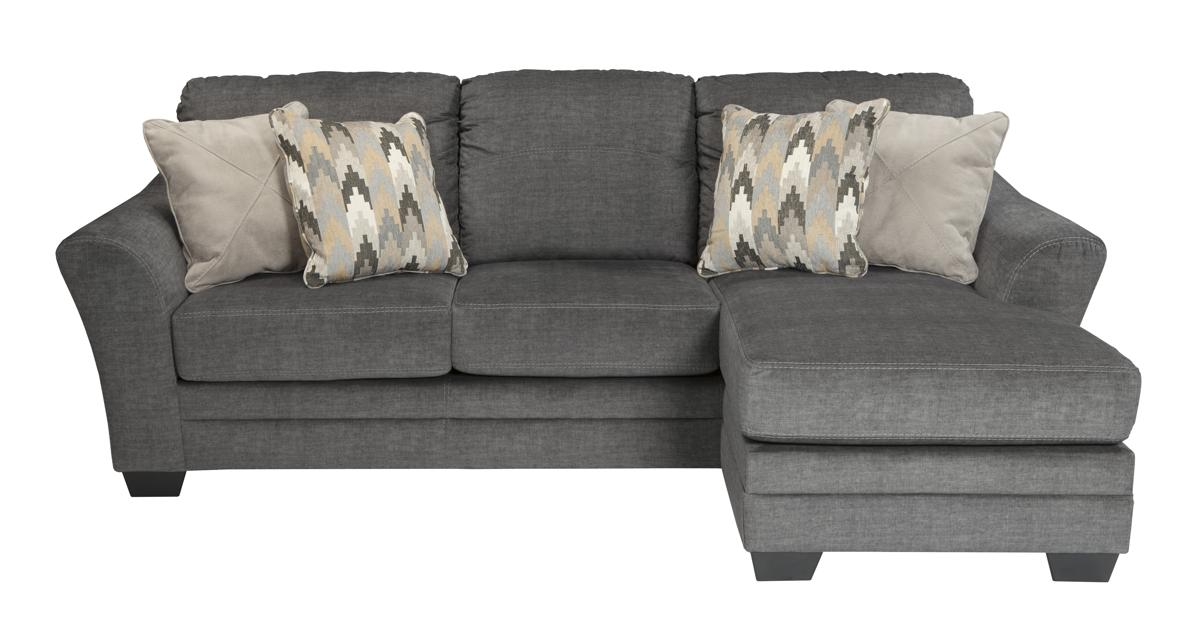 Ashley Furniture Braxlin Charcoal Sofa Chaise