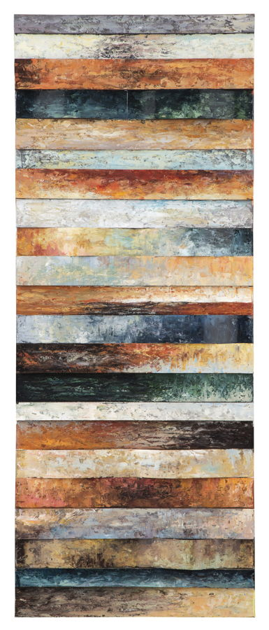 Odiana Contemporary Wood Metal Wall Decor A8000189