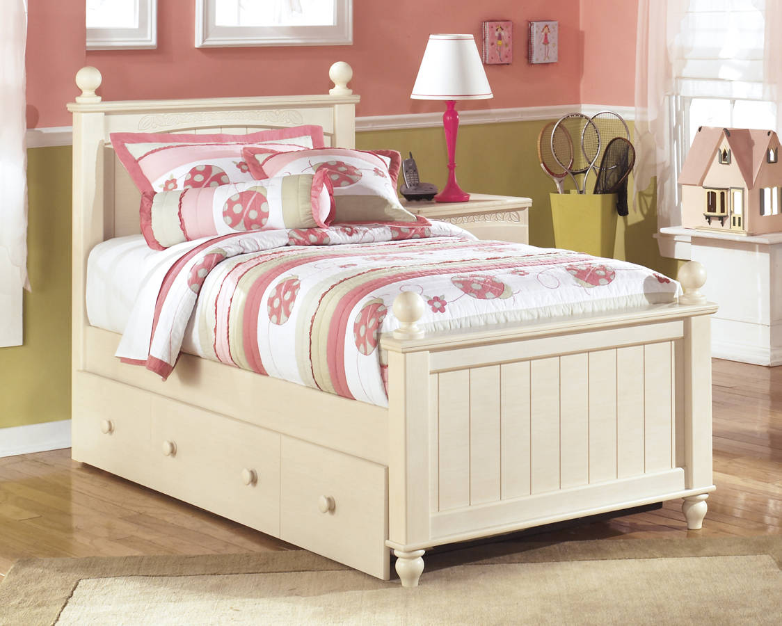 Ashley Furniture Cottage Retreat Twin Trundle Storage Bed The