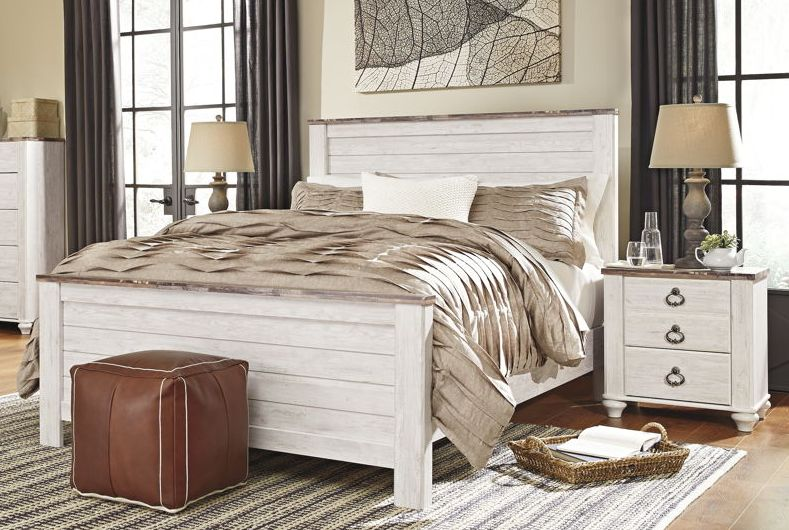 Ashley Furniture Willowton 2pc Bedroom Set With Queen Panel Bed