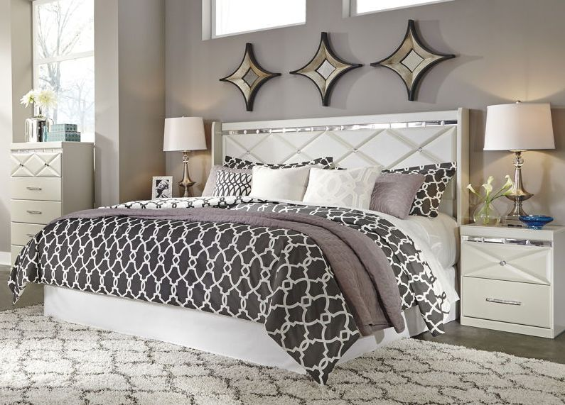 Ashley Furniture Dreamur 2pc Bedroom Set with King Panel Headboard ...