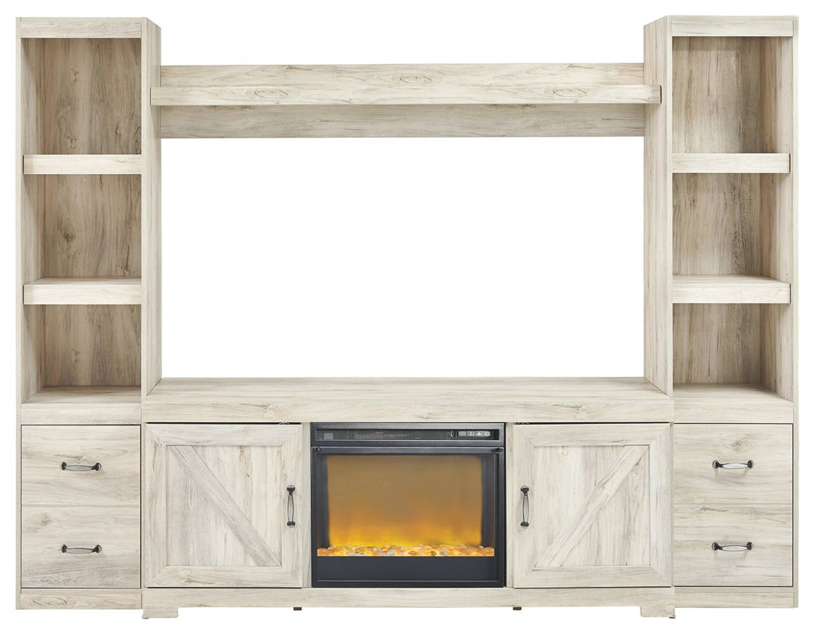 Ashley Furniture Bellaby Whitewash Entertainment Center ...