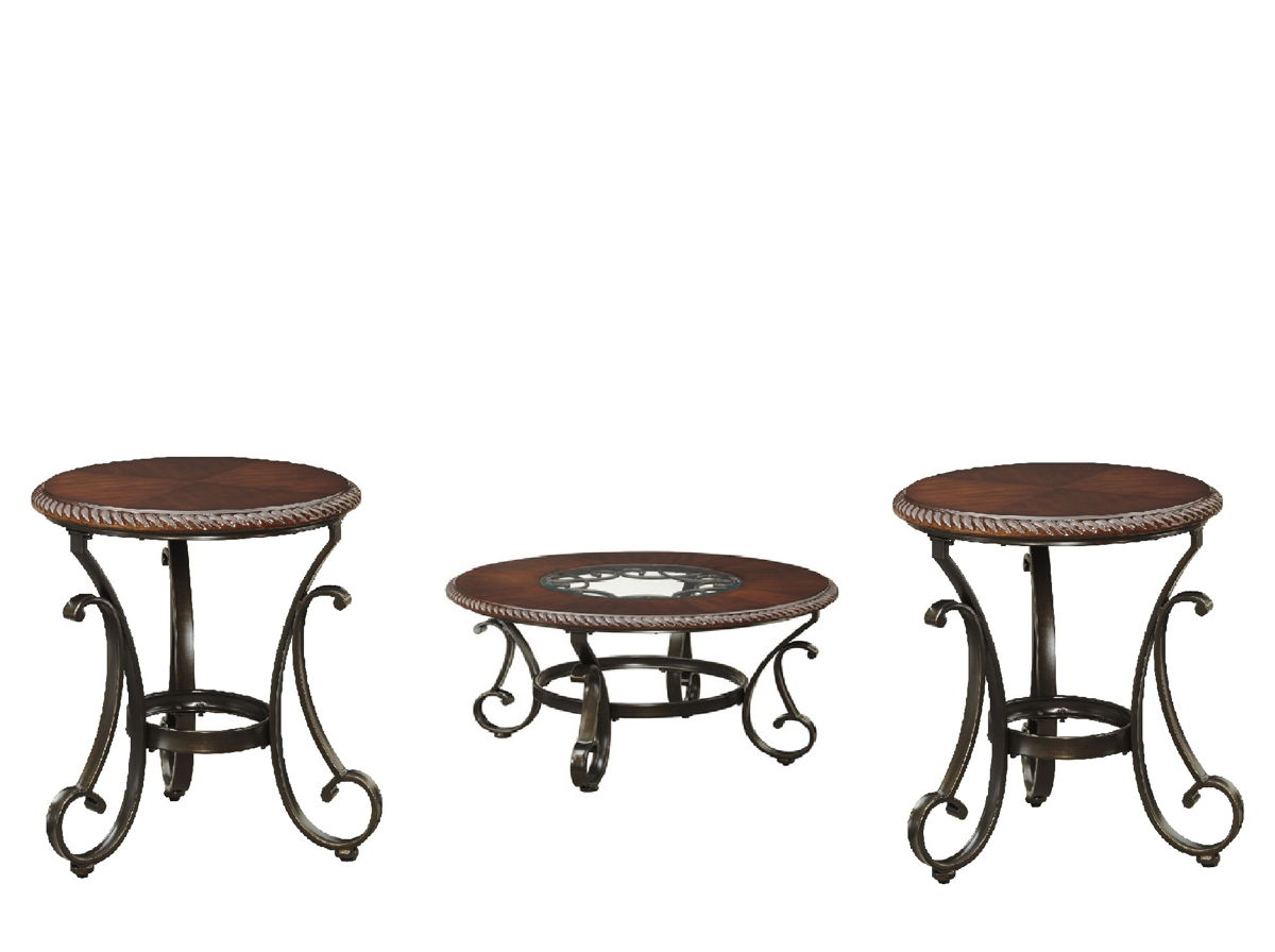 Ashley furniture gambrey 3pc coffee table set the classy for Home furniture coffee tables