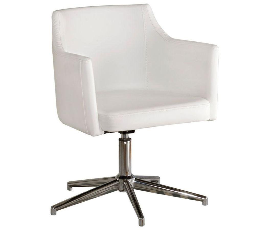 Ashley Furniture Baraga White Home Office Swivel Desk