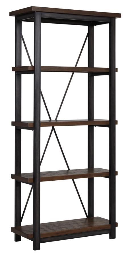 Gavelston Vintage Casual Black Large Bookcase The Classy  : ASH H532 17 SW from www.theclassyhome.com size 450 x 900 jpeg 33kB