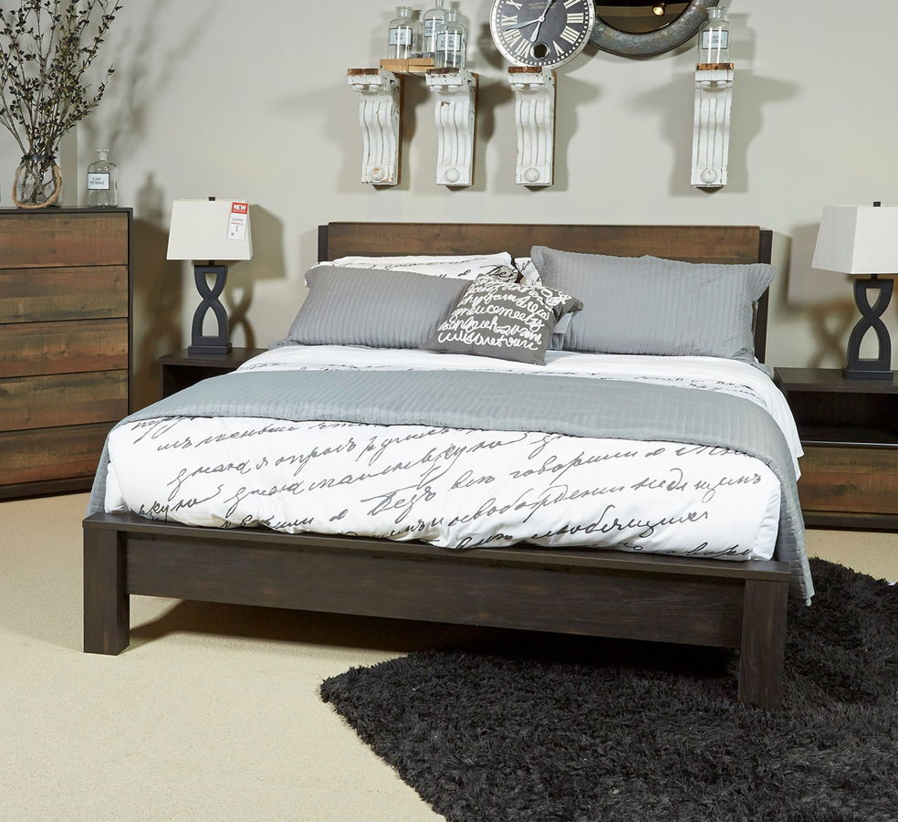 ashley furniture windlore king panel bed the classy home - King Panel Bed