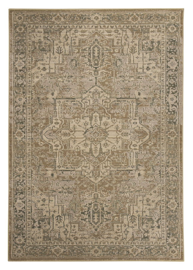 Adjo Traditional Beige Polypropylene Woven Large Rug R401041